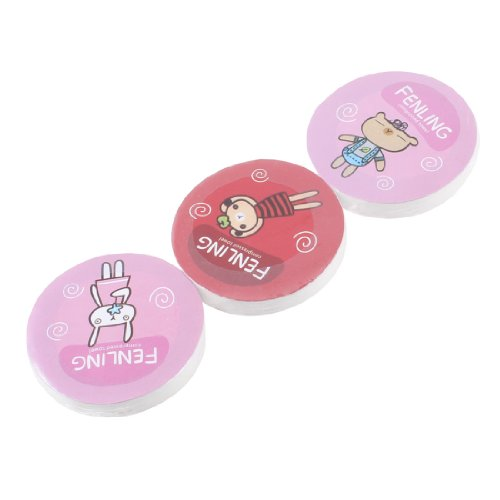 3 Pcs Travel Round Cotton Disposable Compressed Face Towels front-925261