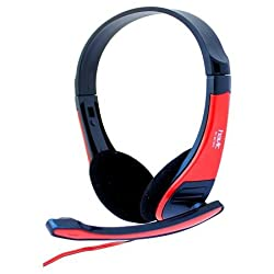 Havit Stereo Headphone With Mic (HV-H2105D) - Black & Red