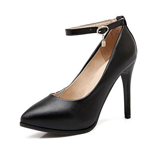 Punta nera super high heels/Sexy-sandali con tacco professional/Scarpe leggere-A Lunghezza piede=22.8CM(9Inch)