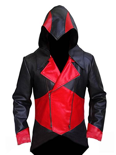 Leather Fashion Mens Assassin's Creed 3 Connor Anime Cosplay Costume Kenway Hoodie Cout