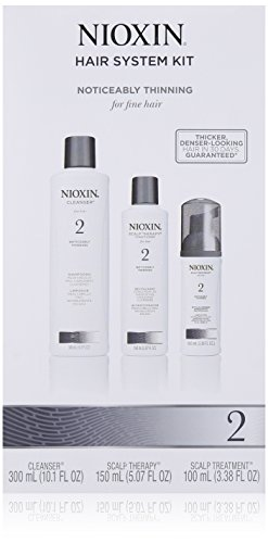 Nioxin 3 Piece System 2 Noticeably Thinning for Fine Hair Kit (Nioxin Dandruff Conditioner compare prices)