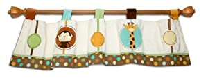 NoJo Jungle Tales Window Valance from Crown Crafts Inc