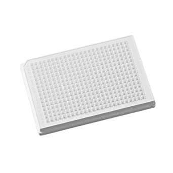 Corning 3653 Polystyrene Flat Bottom 384 Well Microplate, Without Lid, NBS Treated, 112µL Well Volume (Case of 100)