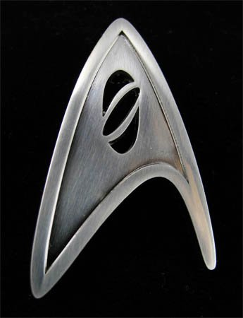 Starfleet Division Badge Science Old Ver. with Pin Backing