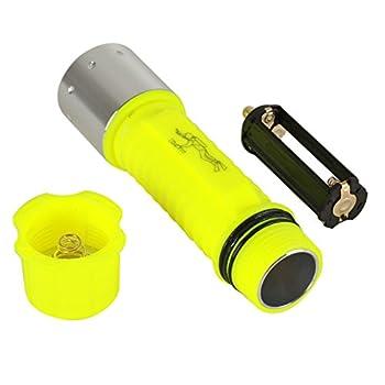 RedSun Diving Flashlight, Bright LED Submarine Light Scuba Safety Lights Waterproof Underwater Torch or Scuba Diving Outdoor Under water Sport