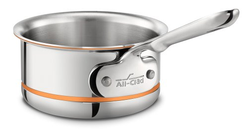 All-Clad 6200.5 SS Copper Core 5-Ply Bonded Dishwasher Safe Butter Warmer / Cookware, Silver