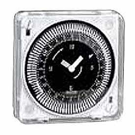 Intermatic Mil72Estuzh-120 24-Hour 120V Flush Mount Electromechanical Time Control With Manual Override