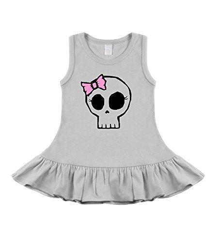 Girly Skull White Sleeveless Dress (6-12 Months) front-806981