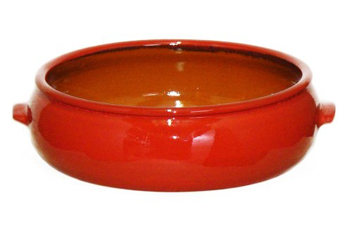 Terafeu French Ceramic Bakeware Cazuela Round Baker, Red