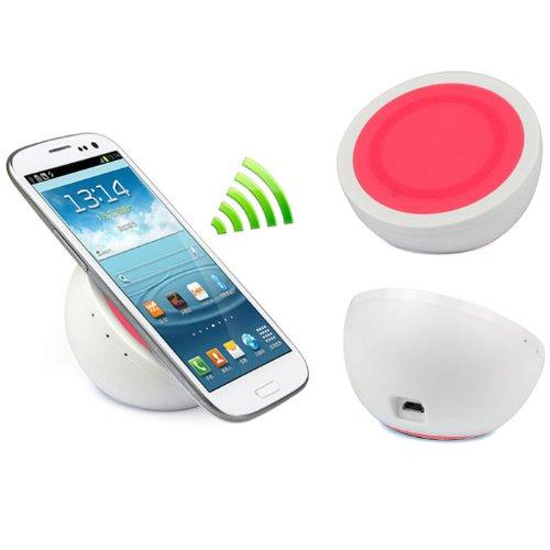 Bluesky Non-Slip Wireless Qi Charger Pad For Nexus 4 Lumia 920 I9300 Note 2 Nokia Htc Samsung Galaxy (Pink)