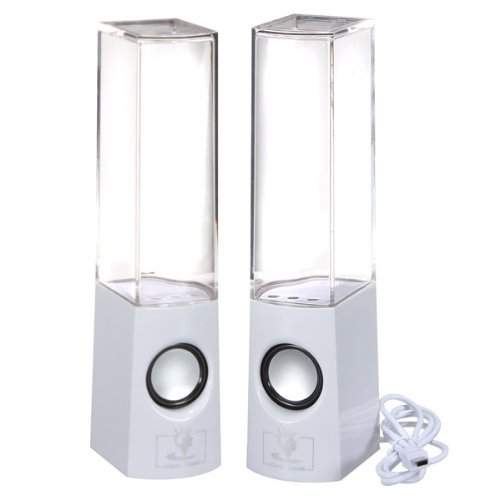 Music Fountain Mini Amplifier Dancing Water Speakers (2013 New White)