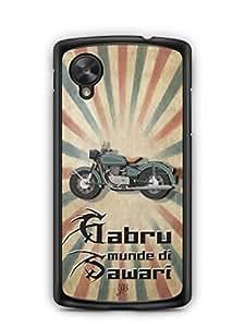YuBingo Gabru Munde Di Sawari Designer Mobile Case Back Cover for Google Nexus 5