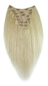Tressecret Remy Human Hair Clip-In Seven Piece Extension, Platinum Blonde, 20 Inch, 7 Count