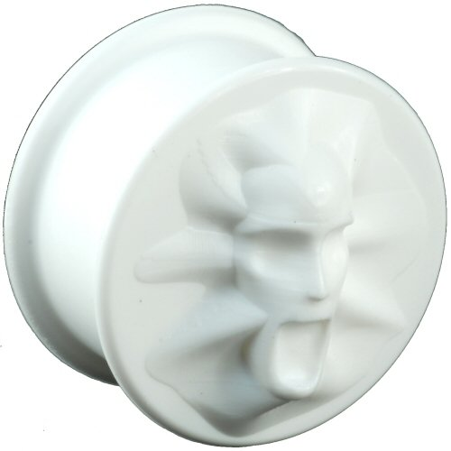 One Silicone Screaming Face Plug: 3/4