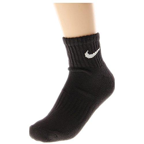 Nike Men's Bag Cotton Quarter Cut Socks (6 Pack) (Large (shoe size 8-12), Black)
