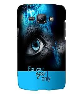 PrintVisa Quotes & Messages Eyes 3D Hard Polycarbonate Designer Back Case Cover for Samsung Galaxy J1