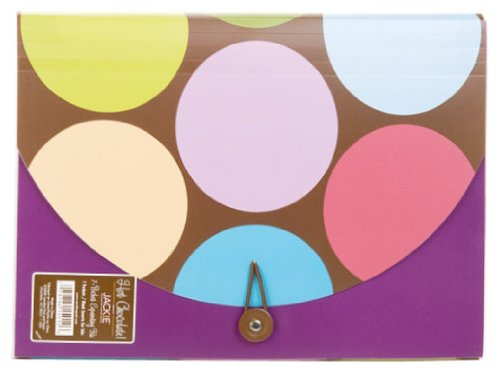 Carolina Pad Hot Chocolate 7-Pocket Accordion Folder Circle Design, 9.25 x 11.75x .5 Inches (15012)