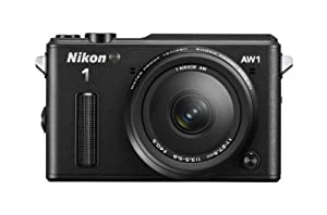 Nikon 1 AW1 14.2 MP HD Waterproof, Shockproof Digital Camera System with AW 11-27.5mm f/3.5-5.6 1 NIKKOR Lens (Black)