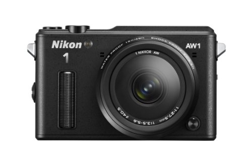 Nikon 1 AW1 Waterproof Mirrorless Camera Kit with AW 11-27.5mm f/3.5-5.6 Lens (Black)