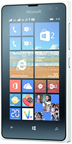 Microsoft Lumia 435 Telefono Cellulare da 8GB, Dual SIM, Bianco [Italia]
