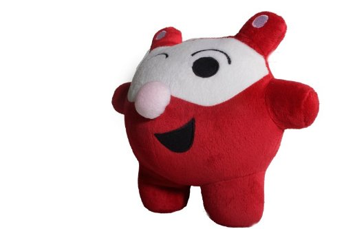 "Bubele Patch Buddies 7"" Kevin Mao Soft Plush Toy Red and White With Blanket - 1"