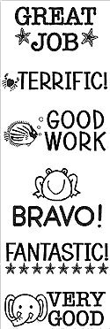 Words of Praise Clear Rubber Stamp Set - CL062