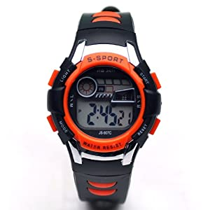 Sinceda Unisex Children Multi Function Luminous Analog Digital Electronic LCD Watch
