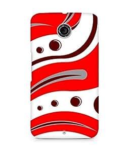 Amez designer printed 3d premium high quality back case cover for Motorola Nexus 6 (Red Tiger Pattern)
