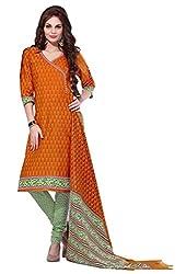 HIFI Ethnicwear Women's Dress Material(HIFI 3217_Bronze_Free_Size)