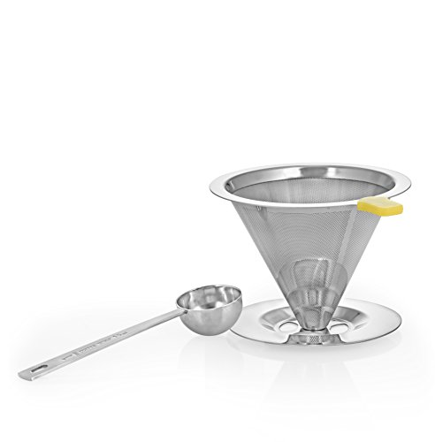 BCI-Pour-Over-Coffee-Dripper-Pour-Over-Coffee-Maker-Cone-Filter-and-Cone-Coffee-Maker-Stainless-Steel-Reusable-Paperless-Permanent-Cone-Filter-Brewer-with-Cup-Stand-and-Bonus-Coffee-Scoop
