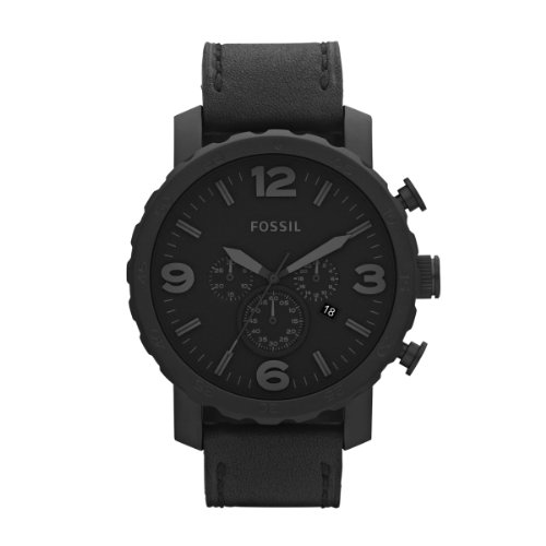 Fossil Nate Chronograph Black Ion-plated Mens Watch JR1354