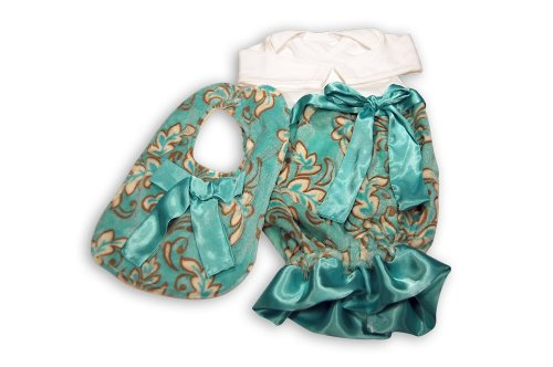 Caught Ya Lookin' Baby Bib Gift Set, Blue