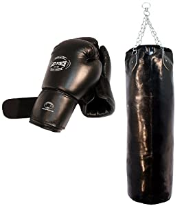 Pro Boxing Gloves + Punching Bag + Heavy Duty Stitching