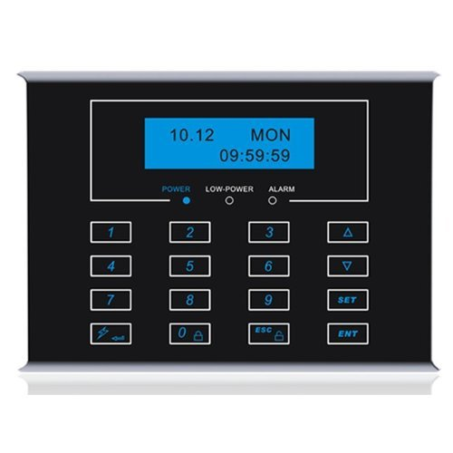 Generic Wirelss Lcd Two Way Panel Keyboard Black