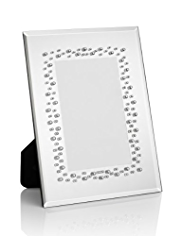 "Scattered Gem Embellished Mirrored Photo Frame 10 x 15cm (4 x 6"")"