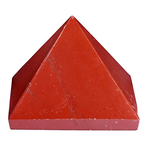 Satyamani Natural Red Jasper Pyramid(Small) Showpiece - 3 Cm (Crystal, Red)