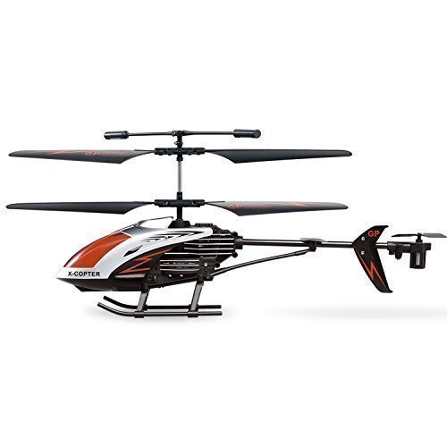 AMOSTING RC Helicopter Crash Resistant 3.5 Channels with Gyro and LED Light for Indoor Outdoor Ready to Fly - Color Black Red White (Outdoor Helicopter compare prices)