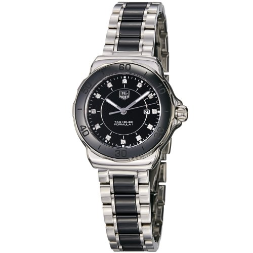 TAG Heuer Women's WAH1314.BA0867 Formula 1 Black Dial Stainless Steel Ceramic Watch