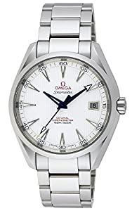 Omega Seamaster Aqua Terra Teak Opaline Silver Dial Stainless Steel Mens Watch 231.10.42.21.02.002