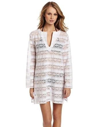 La Blanca Women's Pretty Please Tunic Dress, White, Small