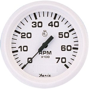 Faria Instruments 33103 DRESS WHITE TACH 6000 RPM FOR DRESS WHITE SERIES