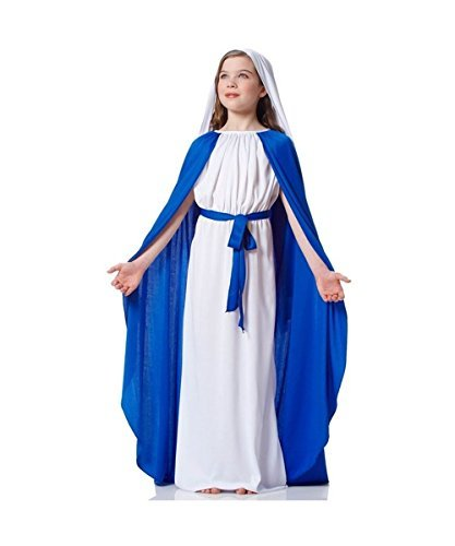 [Virgin Mary Biblical Church Nativity Play Girls Costume by Wonder Clothing] (Girls Virgin Mary Costume)