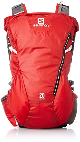 Salomon Zaino Agile 20 Aw - Rosso Brillante/Bianco, 45 X 25 X 14 Cm, 20 Litri