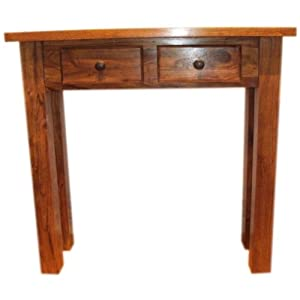 winsome wood timber hall console table drawers shelf 20450