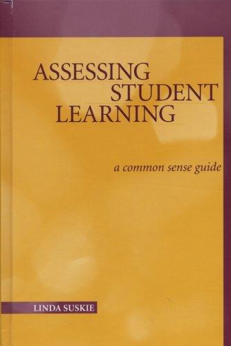 Assessing Student Learning (JB - Anker)