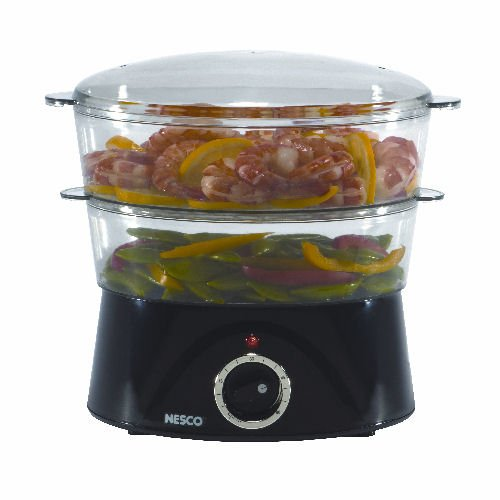 Nesco 4-Quart Food Steamer, Black