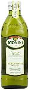 Monini Fruttato Extra Virgin Olive Oil, 1.6 Pound (Pack of 12)