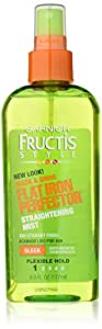 Garnier Fructis Style Sleek & Shine Flat Iron Perfector Straightening Mist 48 Hour Finish, 6 Fluid Ounce