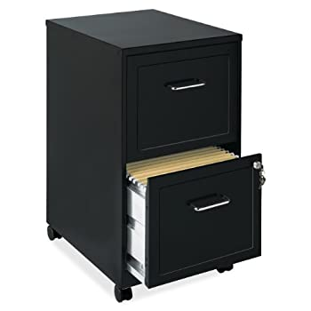 Lorell 16872 2-Drawer Mobile File Cabinet, 18-Inch