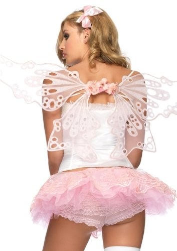 Pink Glitter Eyelet Fairy Wings